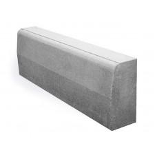 Камень бордюрный дорожный серый