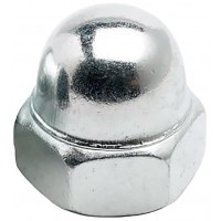 Гайка Din1587 колпачковая, белый цинк