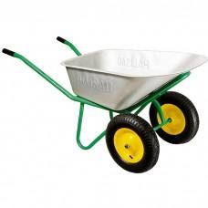 Тачка садово-строительная, двухколесная, усиленная, грузоподъемность 320 кг, объем 100 л Palisad
