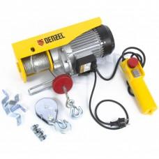 Тельфер электрический TF-800, 0.8 т, 1300 Вт, высота 12 м, 8 м/мин Denzel