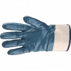 Перчатки трикотажные с обливом из бутадиен-нитрильного каучука, крага, L Сибртех
