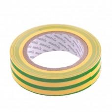 Изолента ПВХ, 15 мм х 10 м, желто-зеленая, 150 мкм Matrix