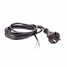 Шнур электрический соединительный, для настольной лампы, 1,7 м, 120 Вт, черный, тип V-1 Россия Сибртех