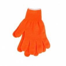 Перчатки трикотажные, акрил, оранжевый, оверлок Россия Сибртех