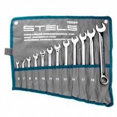Набор ключей комбинированных 12 шт, 6-22 мм,антислип Stels