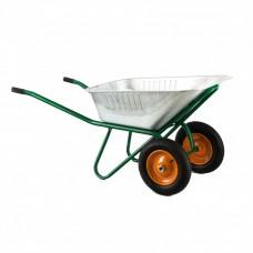 Тачка садово-строительная, двухколесная, усиленная, грузоподъемность 320 кг, объем 100 л Сибртех