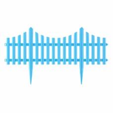 """Забор декоративный """"Гибкий"""", 24 x 300 см голубой Palisad"""
