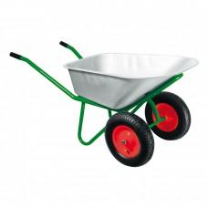 Тачка садово-строительная, двухколесная, усиленная, грузоподъемность 320 кг, объем 100 л Kronwerk