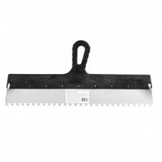 Шпатель из нержавеющей стали, 450 мм, зуб 8 х 8 мм, пластмассовая ручка Россия