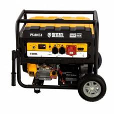 Генератор бензиновый PS 80 E-3, 6.5 кВт, 400 В, 25 л, электростартер Denzel
