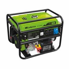 Генератор бензиновый БС-6500Э, 5,5 кВт, 230В, четырехтактный, 25 л, электростартер Сибртех